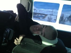 I bilen på vei hjem tilbake til vakre Vang :)