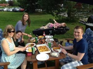Siste grillfesten med Trondheim Senterstud :)