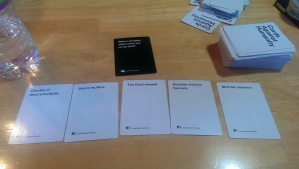 """Cards against humanity"" is the funniest party game ever!"
