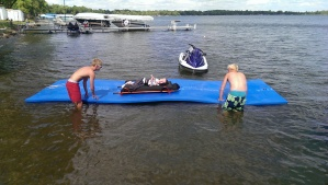 I also had to try the fun floating device :-)
