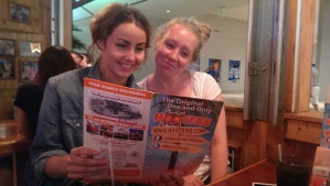 The girls were taking a lunch break at the Hooters :-)