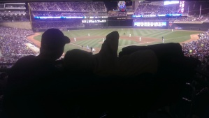 Me and Sondre at the Twins game :-)