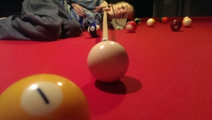 My nachspiel was on top of the pool table enjoying a drink of suspicious ingredients :-)