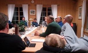 Mitt første åpne medlemsmøte som leder i Vang Senterparti :-)